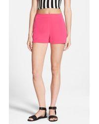 Lush - Pink Woven Trouser Shorts - Lyst