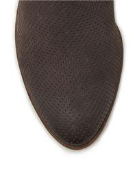 Dolce Vita | Gray Kara Perforated Booties | Lyst