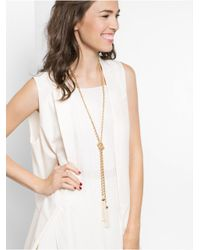 BaubleBar | Metallic Mini Pearl Beaded Tassel Lariat | Lyst