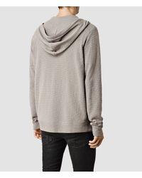 AllSaints - Gray Clash Hoody for Men - Lyst