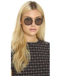 Gucci | Gray Round Aviator Sunglasses | Lyst
