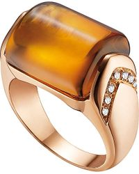 BVLGARI | Metallic Mvsa 18kt Pink-gold And Diamond Ring | Lyst