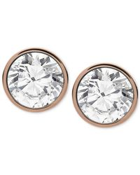 Michael Kors | Metallic Pave Stud Earrings | Lyst