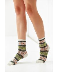 Anonymous Ism - White Intarsia Sock - Lyst