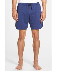 Gents - Blue Cotton Blend Shorts for Men - Lyst