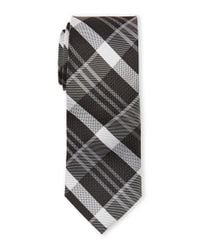 Pierre Cardin | Gray Silk Plaid Slim Tie for Men | Lyst