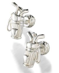 Robin Rotenier | Metallic Golf Bag Ball Cuff Links for Men | Lyst