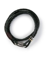Paul Smith | Green Leather Wrap Bracelet for Men | Lyst
