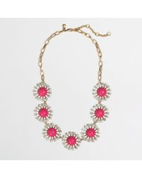 J.Crew - Pink Factory Crystal Stoneburst Necklace - Lyst