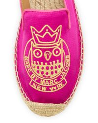 Marc By Marc Jacobs   Pink Owl Satin Espadrille Flat   Lyst