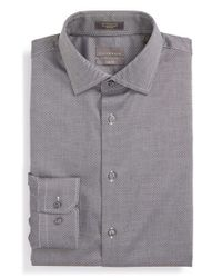 Calibrate - Gray Trim Fit Non-iron Dress Shirt for Men - Lyst