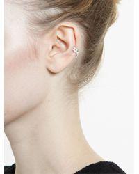 Yvonne Léon - White Diamond Helix Earring - Lyst