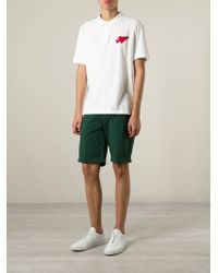 AMI - White Heartbreaker Polo Shirt for Men - Lyst