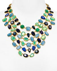 Ralph Lauren | Green Lauren Bib Statement Necklace, 18"