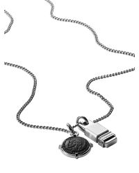 DIESEL - Black Necklace Dx0819 for Men - Lyst