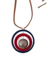 Marni | Black Circular Pendant Necklace | Lyst