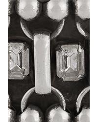 DANNIJO - Metallic Mae Oxidized Silver-plated Swarovski Crystal Cuff - Lyst