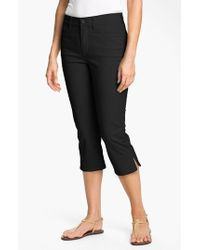 NYDJ | Black 'nanette' Stretch Crop Jeans | Lyst