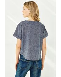 BDG | Gray Kennedy Woven Tee | Lyst