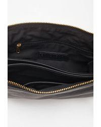 Forever 21 - Black Double-pocket Faux Leather Crossbody - Lyst