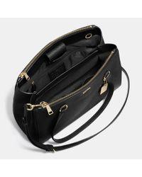 COACH - Black Stanton Carryall In Crossgrain Leather - Lyst