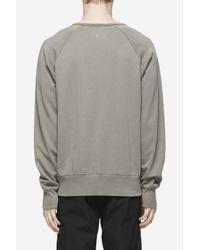 Rag & Bone - Gray Garment Dye David Sweatshirt for Men - Lyst