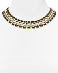 "House of Harlow 1960 - Metallic 1960 Azure Mosaic Collar Necklace, 16"" - Lyst"