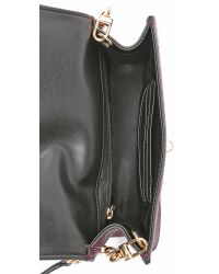 MILLY - Purple Astor Cross Body Bag - Bordeaux - Lyst