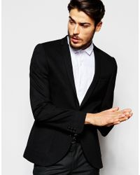 Noak | Jersey Blazer In Super Skinny Fit - Black for Men | Lyst