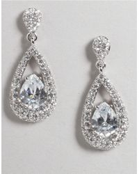 Nadri | White Cubic Zirconia Teardrop Earrings | Lyst