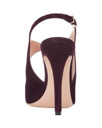 Giorgio Armani - Purple Cutout Slingback Sandals - Lyst