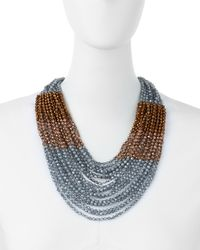 Nakamol - Blue Wide Collar Necklace-montana Mix - Lyst