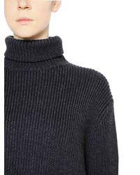 Ellery - Gray Wool Rib Knit Turtleneck Sweater - Lyst