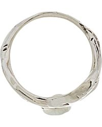 Aurelie Bidermann - Metallic Silver Plated Mamba Ring - Lyst
