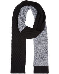 McQ - Black And White Honeycomb Scarf for Men - Lyst