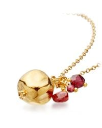 Alex Monroe - Metallic Pomegranate Garnet Pendant - Lyst