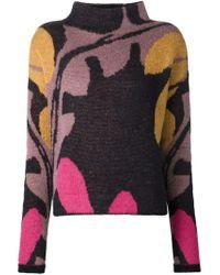 Dorothee Schumacher - Blue Floral Intarsia Sweater - Lyst