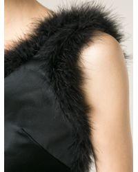 Simone Rocha - Black Fluffy Trim Flared Dress - Lyst