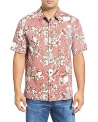 Jack O'neill | Purple 'mixology' Reverse Print Short Sleeve Sport Shirt for Men | Lyst