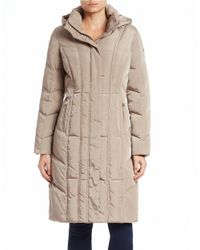 Calvin Klein - Natural Quilted Down Coat - Lyst