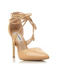 Steve Madden Natural Raela Pointed Wrap Around Court Shoes