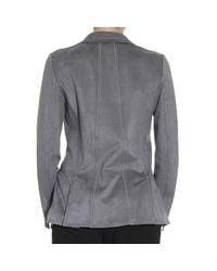 Giorgio Armani - Gray Women's Blazer - Lyst