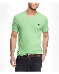 Express - Green Small Lion Vneck Tee for Men - Lyst