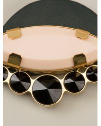 Marni - Black Jewelled Emblem Necklace - Lyst