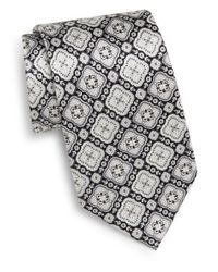 Burma Bibas | Black Floral Medallion Silk Tie & Gift Box for Men | Lyst