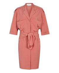Reiss | Pink Arizona Shirt Dress | Lyst