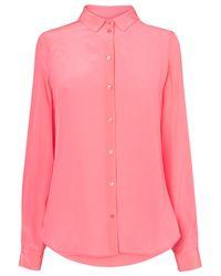 L.K.Bennett - Pink Derb Silk Shirt - Lyst