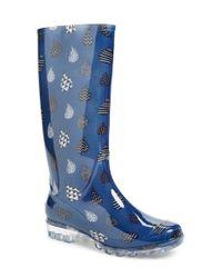 TOMS - Blue 'cabrilla' Print Rain Boot - Lyst