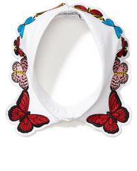 Vivetta | White Embroidered Fauna Collar | Lyst