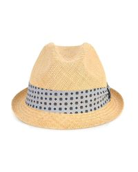Gucci - Natural Silk-Band Straw Trilby for Men - Lyst